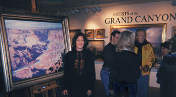 Brenda at Grand Canyon Exhibit at Mark Sublette Gallery